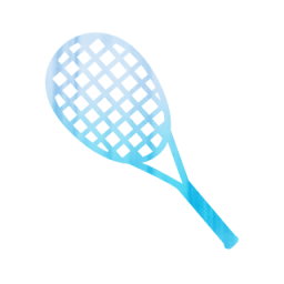 043752-blue-tiedyed-cloth-icon-sports-hobbies-racket
